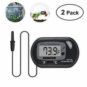 Ueetek 2 pcs numérique lcd thermomètre pour aquarium fish