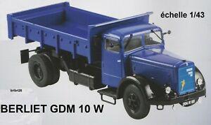 N° 38 berliet gdm 10 w camion benne 1/43 neuf en boite,