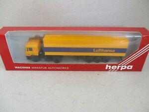 """Semi remorque man container """" lufthansa """"- herpa wagener -"""
