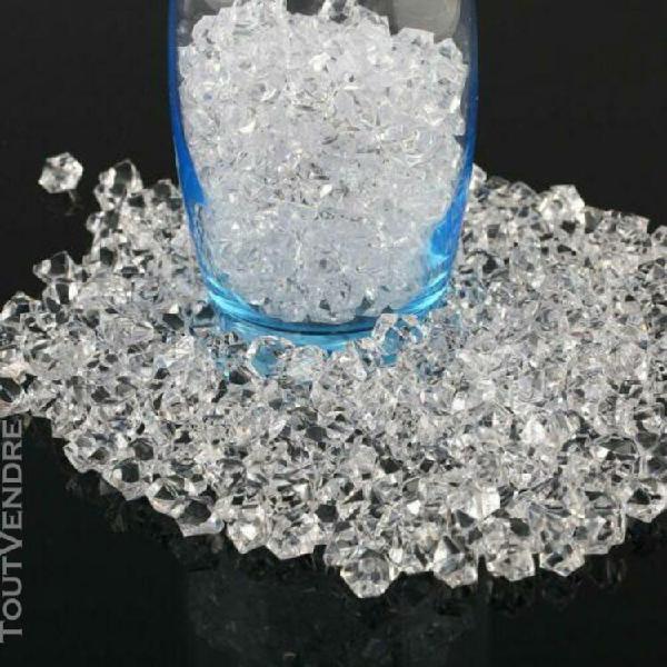 1000pcs clair glace acrylique artificielle tableau scatter v