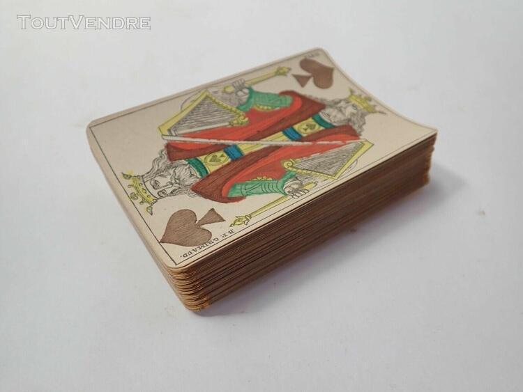 Ancien jeux de 52 cartes avec coins dorés 1890 / 1900