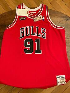 Denis rodman 1997-98 finals road authentic jersey by