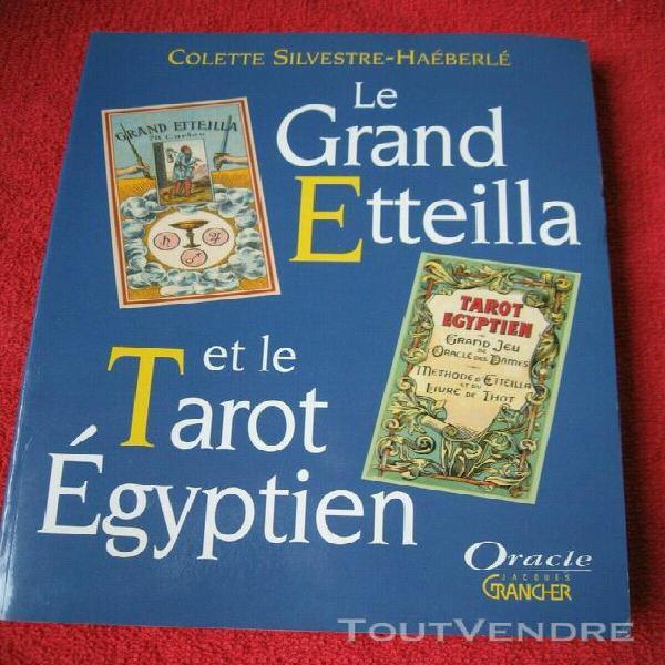 Jeu de cartes tarot egyptien livre le grand etteilla colette