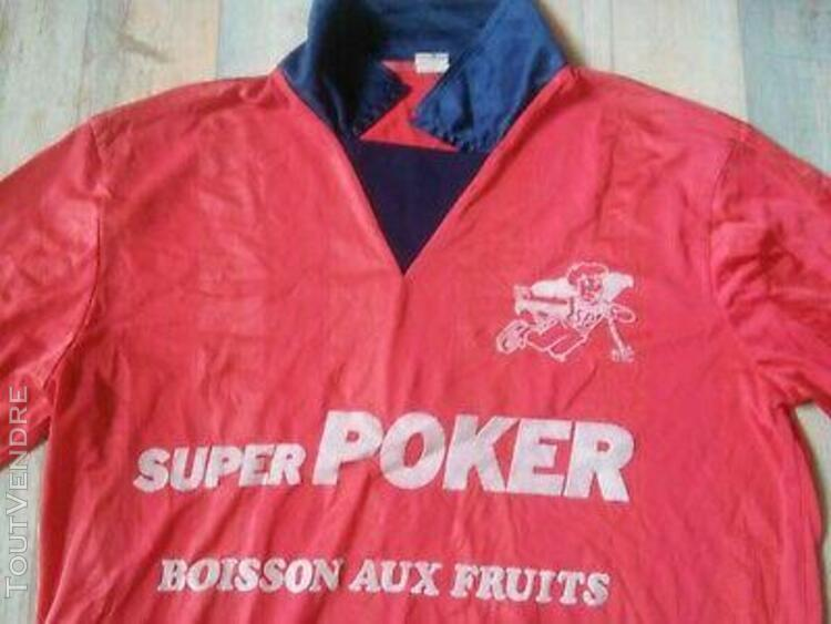 Maillot foot goal super poker made in france n°1 vintage
