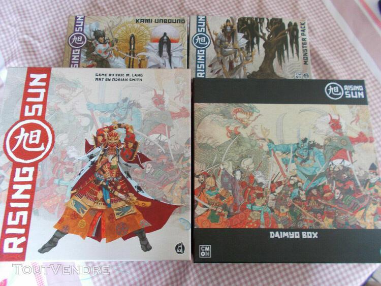 Rising sun board game - full daimyo pledge box + kickstarter