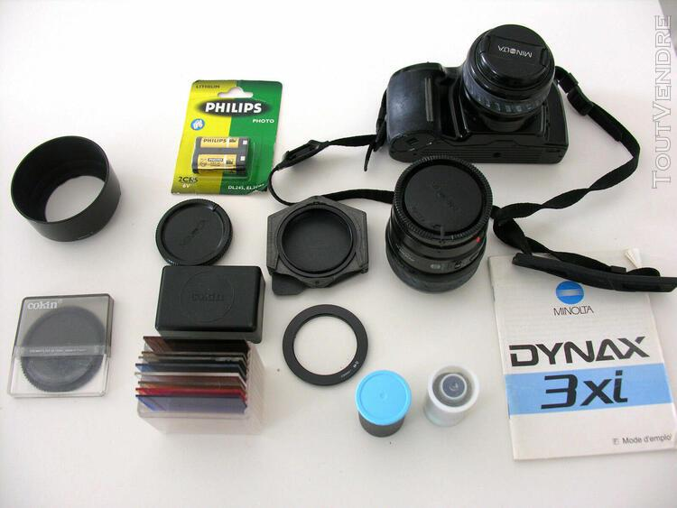 Appareil photo - minolta dynax 3xi - avec accessoires (filtr