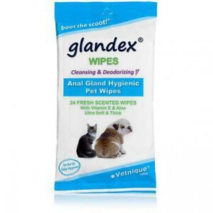Glandex lingettes pour animaux de compagnie nettoyer et