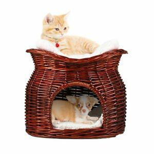 Losypet lit panier en osier pour chat et petit chien