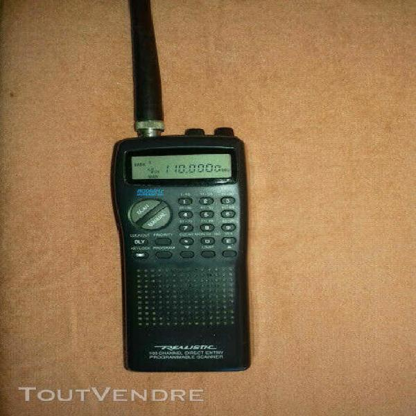 Scanner portable radio digital marque réalistic pro 25 100