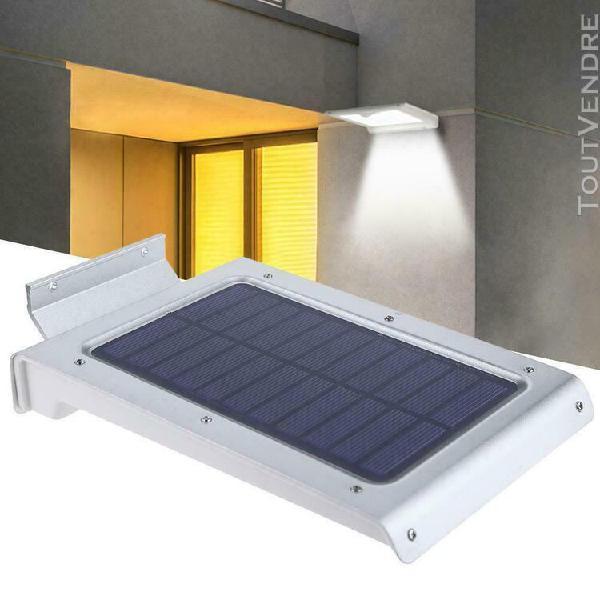 46led solaire lampe lumière capteur de mouvement extérieur