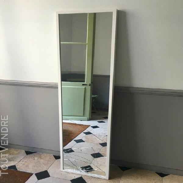 Miroir ikea blanc 161 x 40 cm grand vintage mural ancien mod