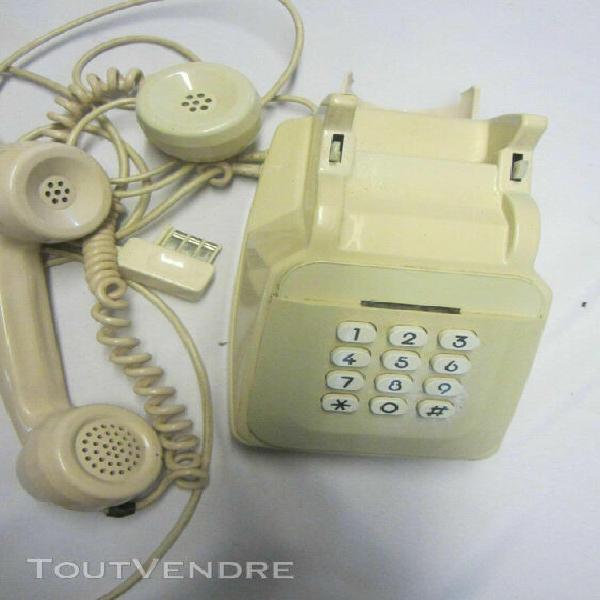 Ancien téléphone fixe s63 ivoire cadran fonctionne filaire
