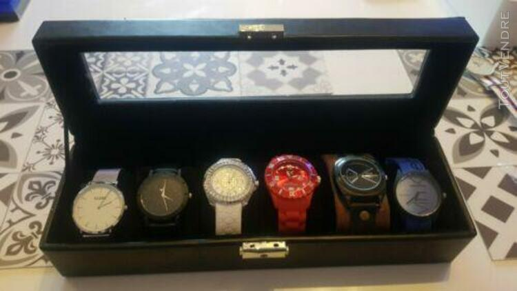 Boite à montres + 6 montres