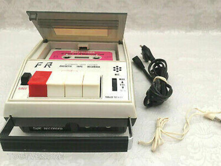 Rare magnetophone lecteur cassette portatif vintage f.r. cr-