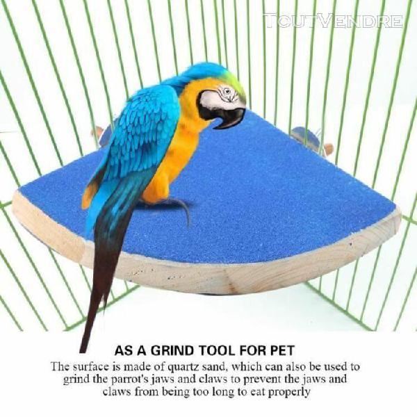 Animaux perruche perruche jouets, plate-forme en bois cage p