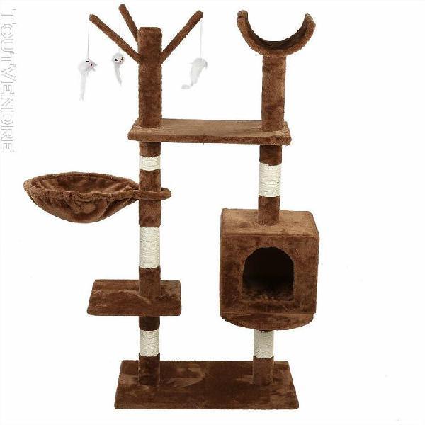 arbre À chat avec griffoir niches colonnes renforcées