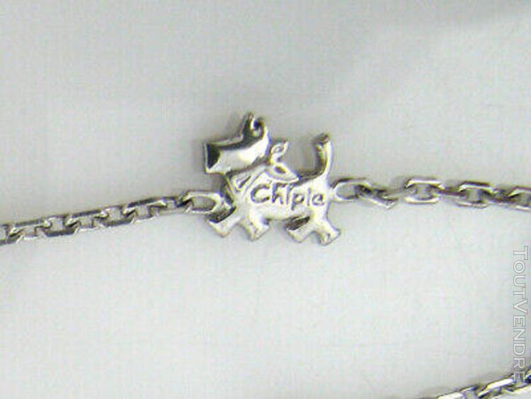 Bracelet neuf chipie enfant fille argent 925 rhodié (ne
