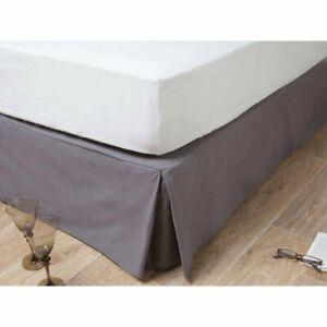 Cache sommier metis lin/coton anthracite 90x190cm hide