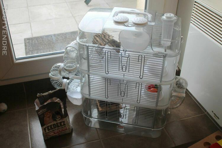 Cage hamster rongeurs zolux 27x54x40x60 (avec les tuyaux) +