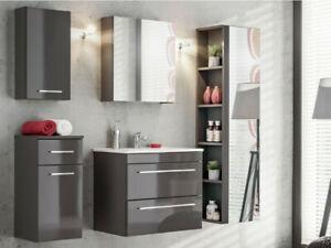 Ensemble molly - meubles de salle de bain - gris