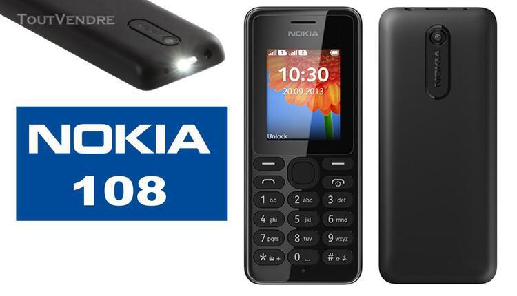 Nokia 108 téléphone portable compact noir débloqué tout