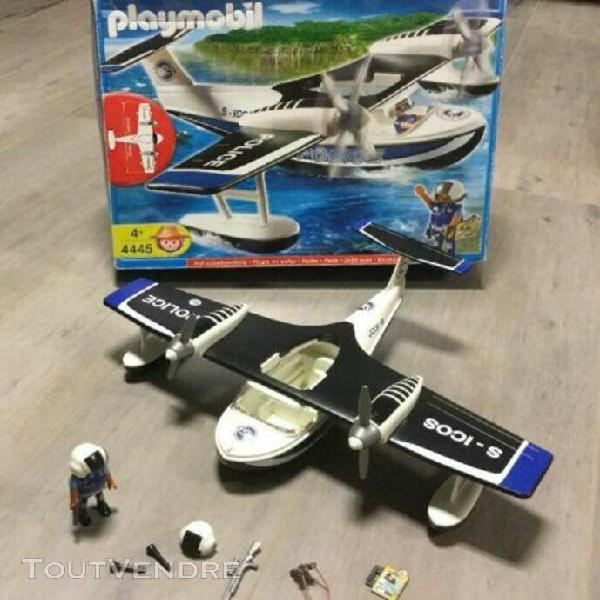 Playmobil hydravion police réf 4445