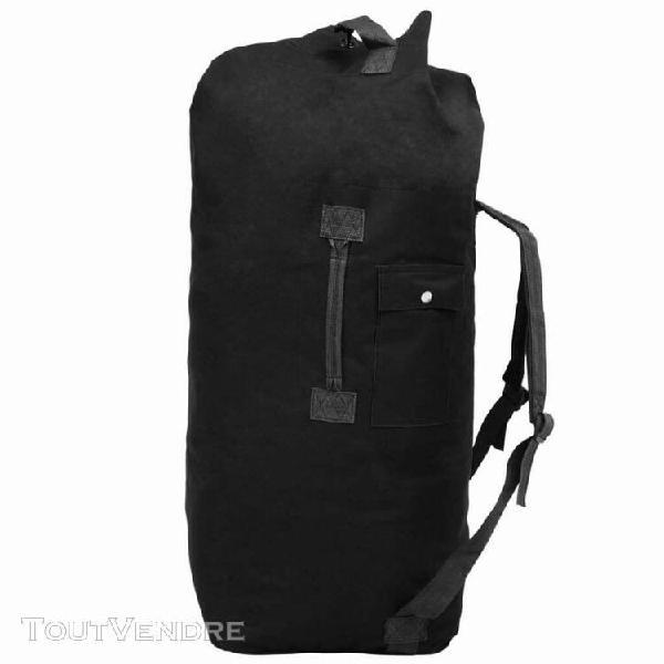 sac de sport en style militaire 85 l noir