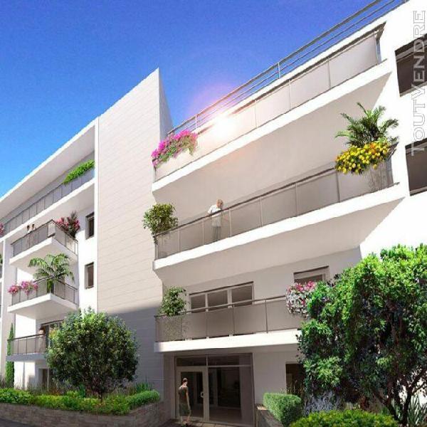 3 pièces de 60m² avec balcon de 10m², place de parking et