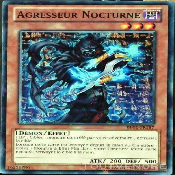 carte yu-gi-oh bp01-fr187-st agresseur nocturne neuf fr