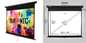 duronic mps60 /43 ecran de projection a deroulement manuel