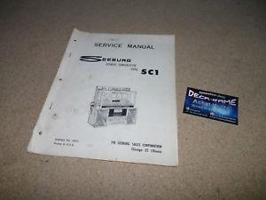 Manuel de service juke box seeburg sc1 !!! original
