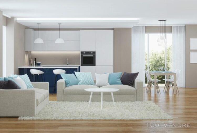 T3 de 59.12 m² avec jardin de 100 m² et parking en