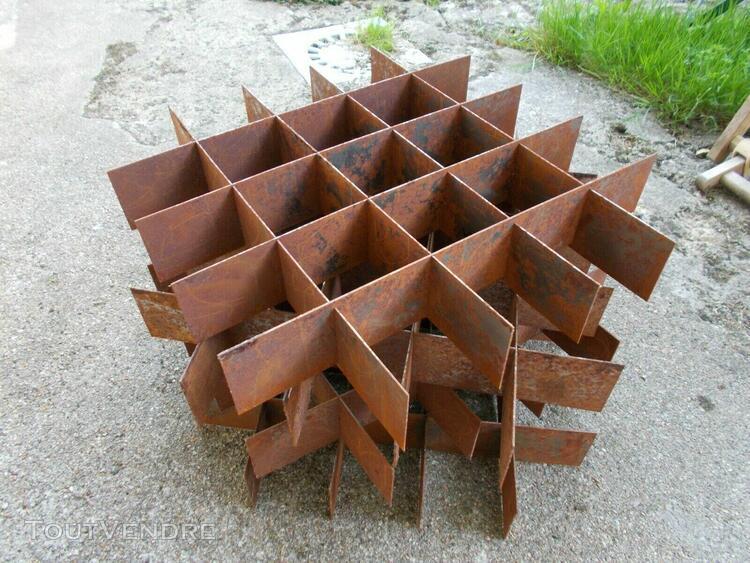 lot 4 casiers de rangement métal tole 42,5x43,5cm de 25
