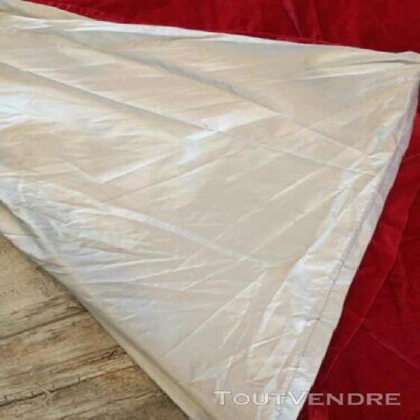 Pair de rideaux velour rouge ikea et doublure isolante froid
