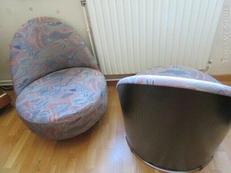 Paire de fauteuils/ chauffeuses de chez roche bobois - etat