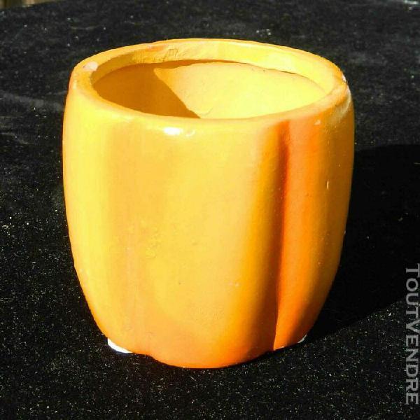 Pot céramique, citrouille orange, 7,5 cm, pour plantes et