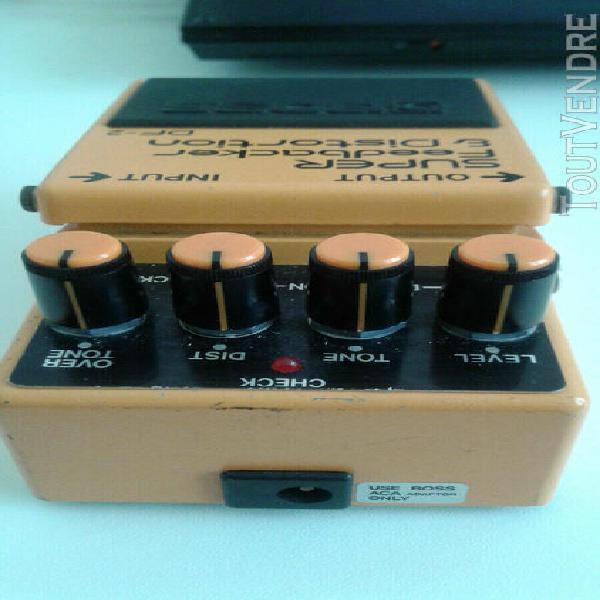 Pédale guitare boss super feedbacker & distorsion.. df-2..