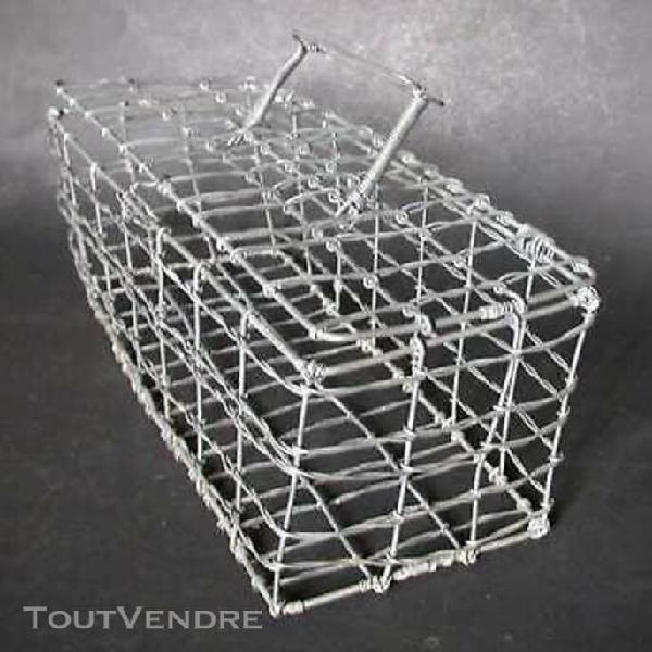 Petite cage métallique 32 cm x 12 cm x 12 cm