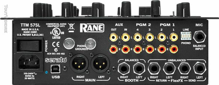 Rane - ttm 57 sl - table de mixage professionnelle - analogi