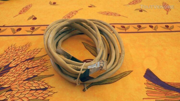 Câble réseau ethernet rj45 3m cat 5e droit gris – cordon