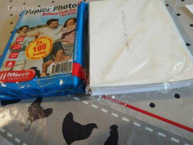 Micro application - papier photo (100 x 150) color blanco -