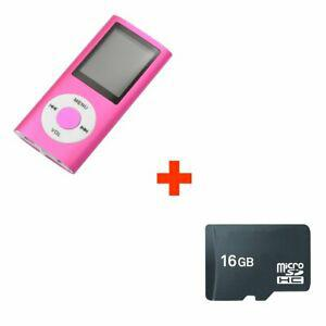 Mini lecteur mp4 mp3 player avec radio fm 16 go 16gb micro