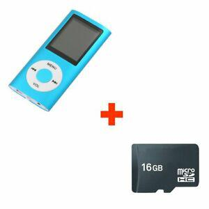 Mini lecteur mp4 mp3 player avec radio fm 16go micro sd