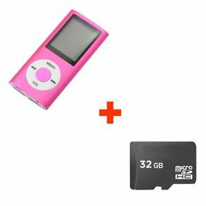 Mini lecteur mp4 mp3 player avec radio fm 32go micro sd
