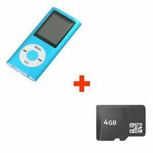 Mini lecteur mp4 mp3 player avec radio fm 4go micro sd