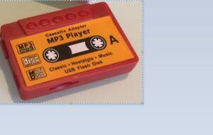 Mp3 cassette rouge style rétro player w/ 3.5mm jack+tf slot