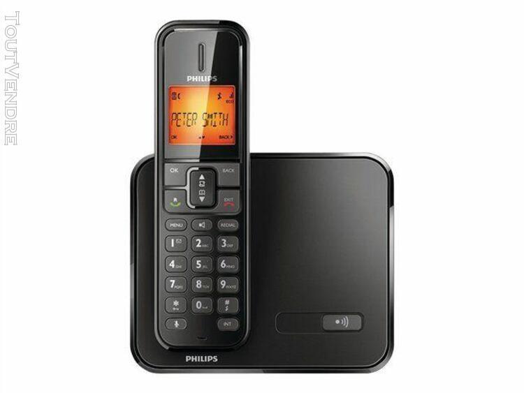 Philips philips se1711b - téléphone sans fil avec id