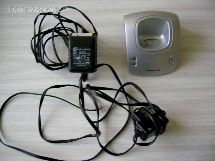 Thomson base + chargeur téléphone alcatel versatis 630
