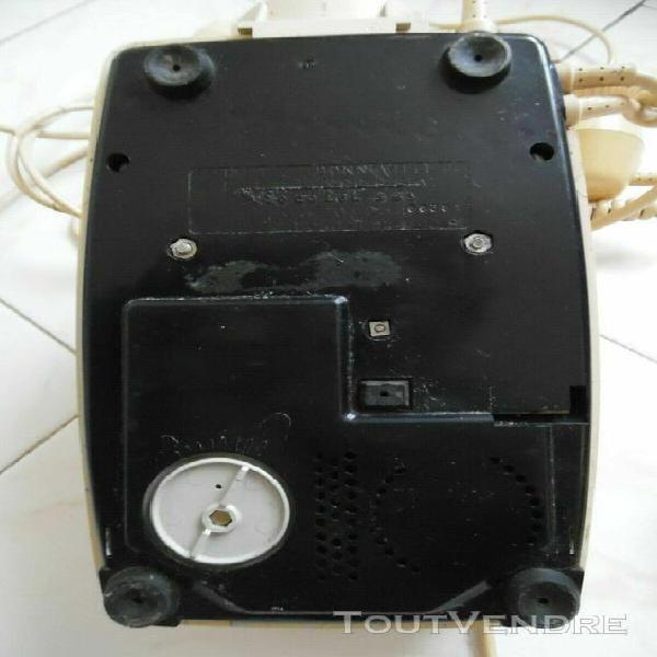 Téléphone fixe vintage blanc ivoire socotel s 63