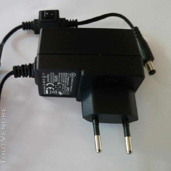 Adaptateur secteur alimentation chargeur ac dc 220v 12v 1a 1